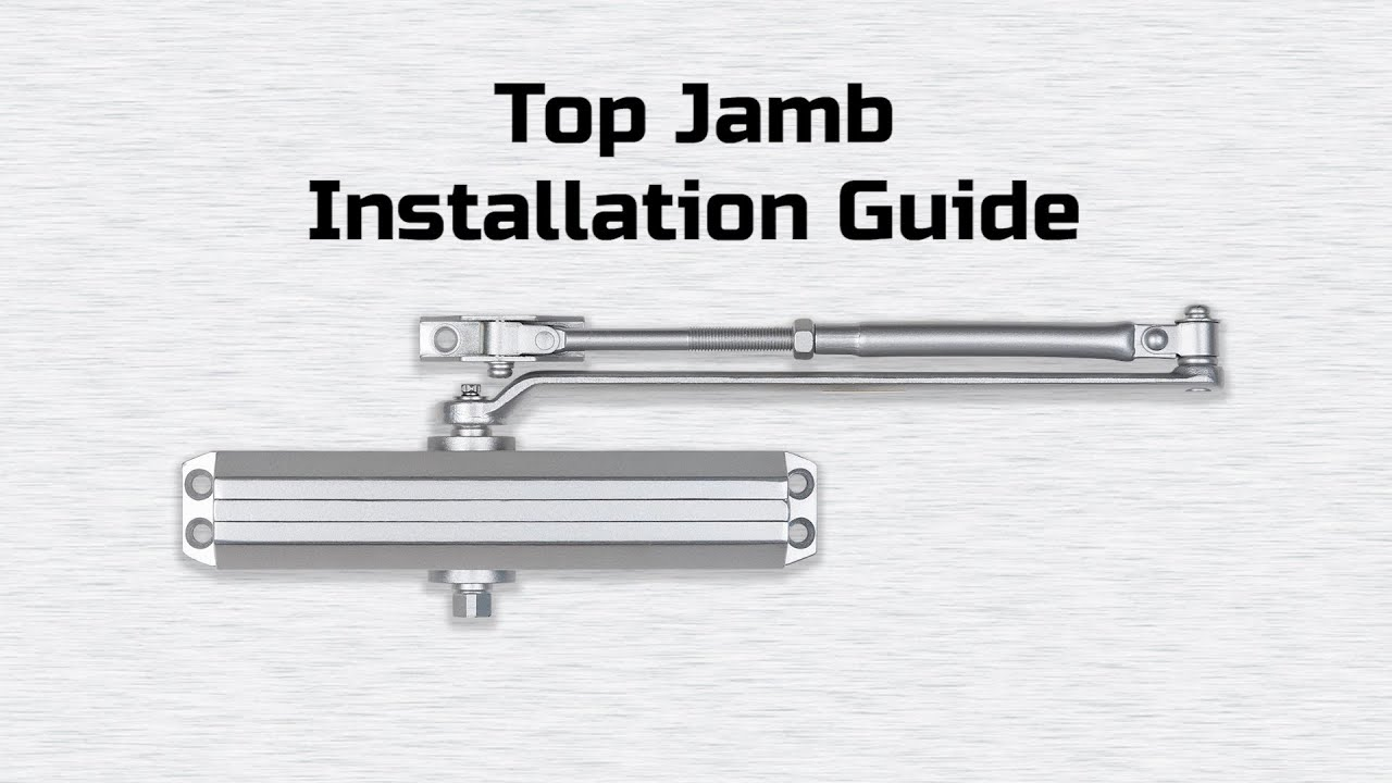 Universal Hardware Uh4051 Uh4052 Top Jamb Closer Installation Instructions Youtube