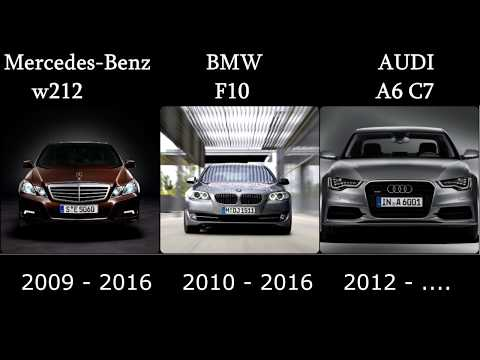 The evolution of Mercedes Benz E / BMW 5 / Audi A6