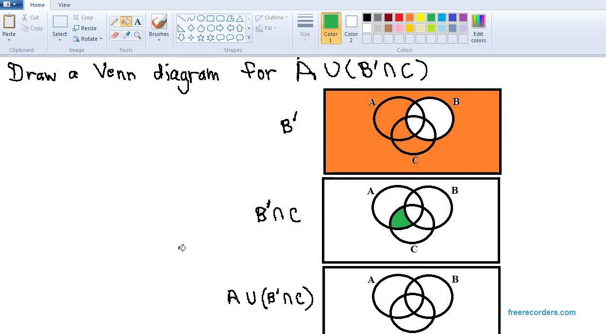 Shading a venn diagram youtube shading a venn diagram pooptronica Choice Image