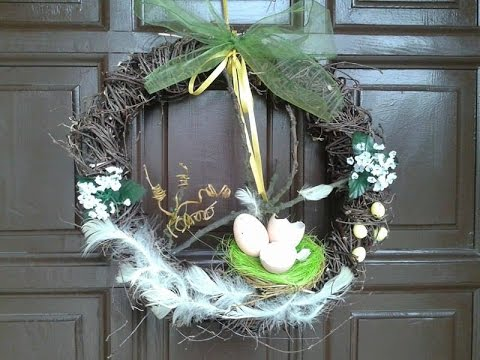 Diy Zajączek Wielkanocny Jak Zrobić Wianek Na Drzwiwiosenne