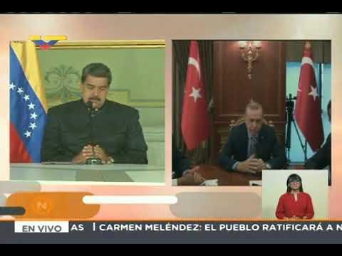 Maduro sostiene videoconferencia con Erdogan, presidente de Turquía, 17 mayo 2018