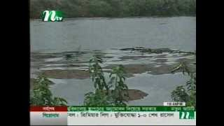 Stealing water from Bangladesh's Feni river by India for their irrigation projects !