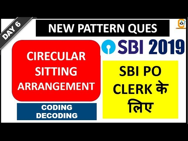 Circular Arrangement New ,Coding Decoding for SBI Prelims PO & Clerk Exam || Day 6 Class Reasoning