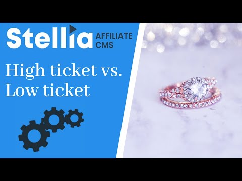High Ticket vs Low Ticket producten affiliate marketing thumbnail