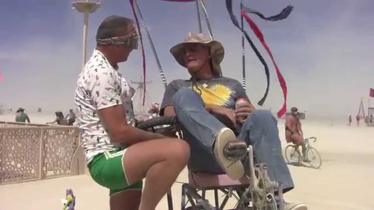 Hub Culture Camp at Burning Man 2015 with Dad