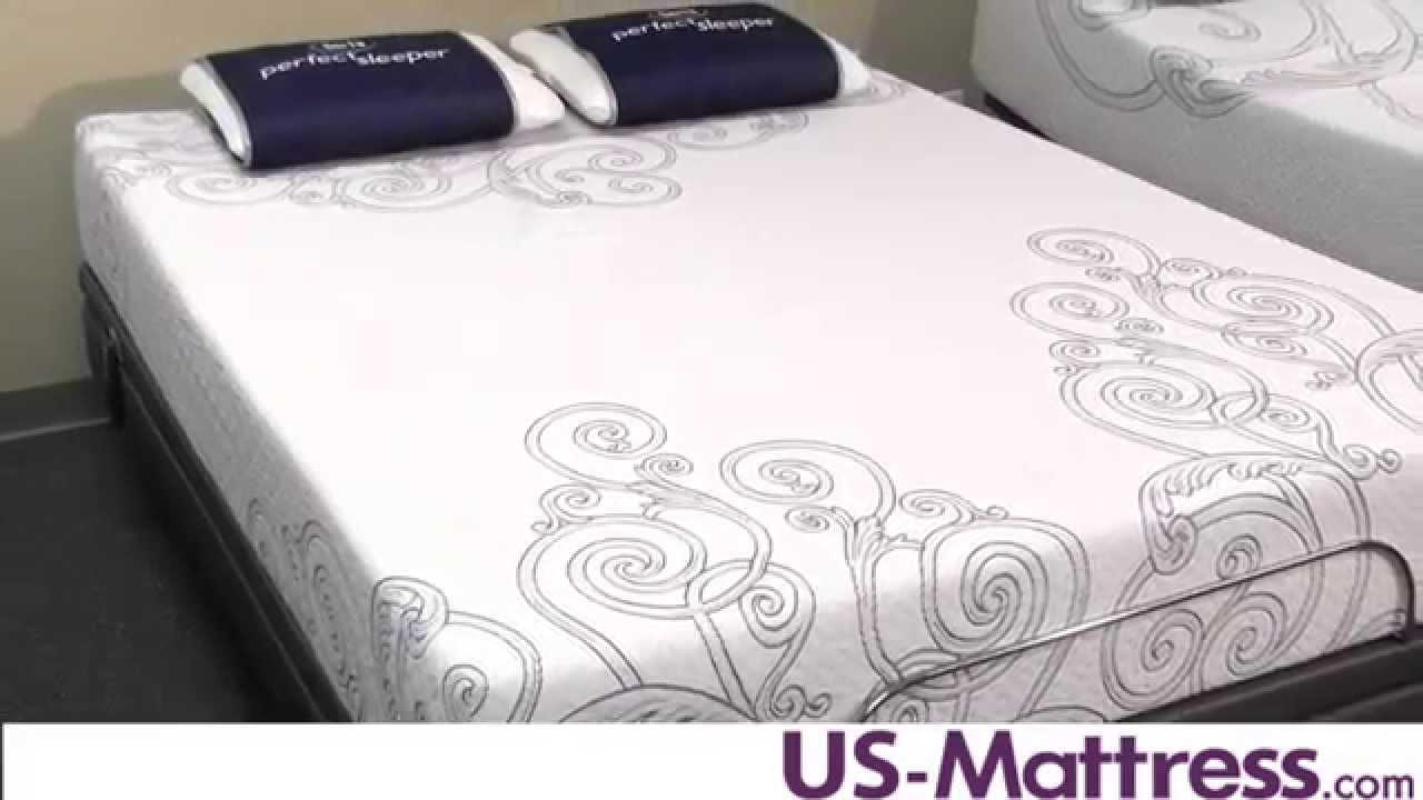 Serta Perfect Sleeper Gel Memory Foam Killingsworth Mattress Youtube