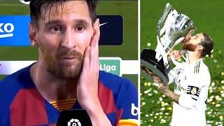 Реакция МЕССИ на чемпионство РЕАЛА Реал выиграл Ла Лигу Барселона проиграла Осасуне