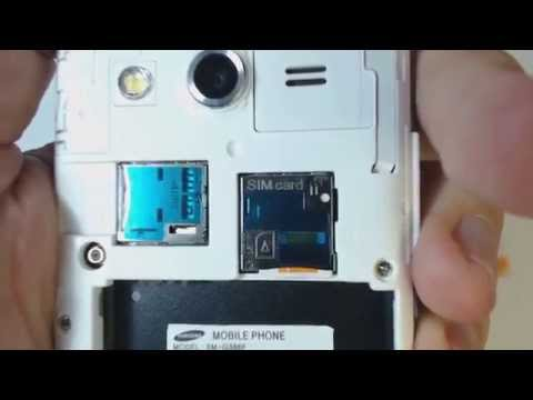 How to put sim card and memory card in Samsung Galaxy Core 4G
