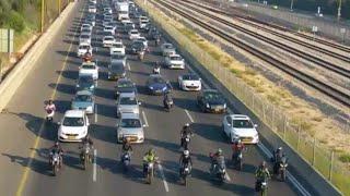 ירדו מהשוליים: עשרות רוכבי אופנוע חסמו את נתיבי איילון
