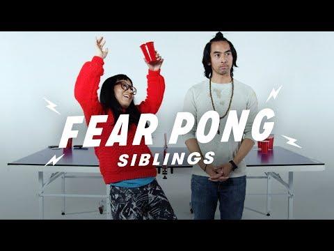 Siblings Play Fear Pong (Bob vs. Maly) | Fear Pong | Cut