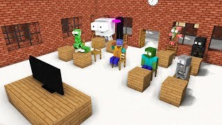 MONSTER SCHOOL REACTING TO FANS VIDEO - Minecraft Animation