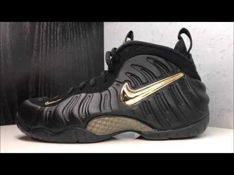 cfcdd3e81cf NIKE AIR FOAMPOSITE PRO BLACK GOLD SNEAKER REVIEW + UNBOXING - YouTube
