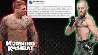 Conor McGregor, Dustin Poirier Trade Shots Over Failed Donation | Morning Kombat