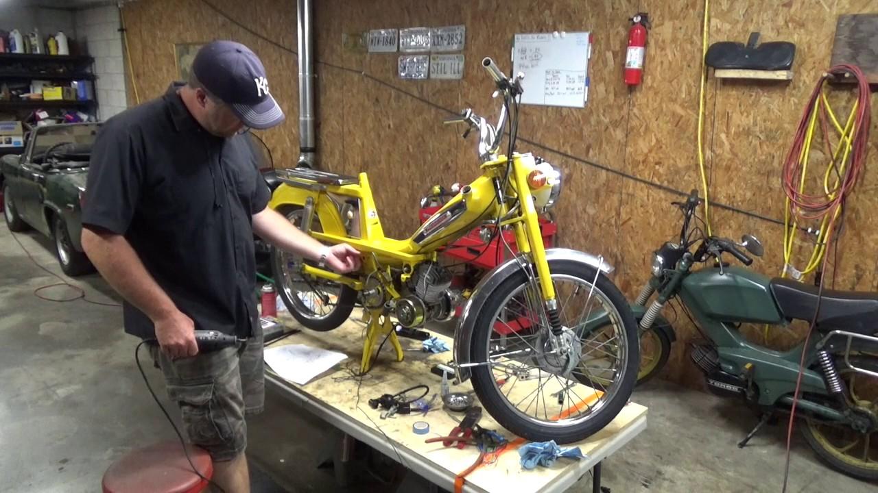 hight resolution of motobecane moped restoration ep 17 cdi install