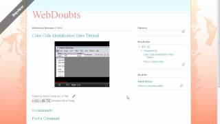 Uploading a video to Blogger Blog Site