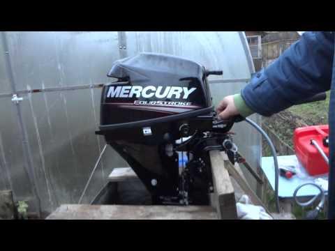 обкатка четырехтактных лодочного мотора меркури