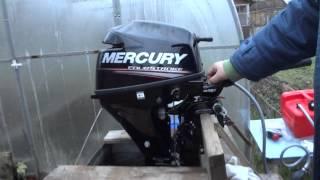 Mercury F9.9M, первый запуск.