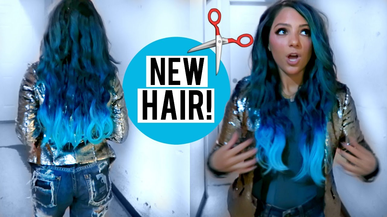 My New Hair Blue Hair With Ombre Youtube