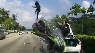 Жесткие аварии и ДТП 2017 №23