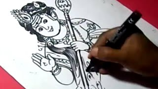 How to Draw LORD KUMARA SWAMY DRAWING for KIDS