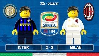 Inter Milan 2-2 • Derby Milano • Serie A 2017 (15/04/2017) goal highlights sintesi Lego Calcio