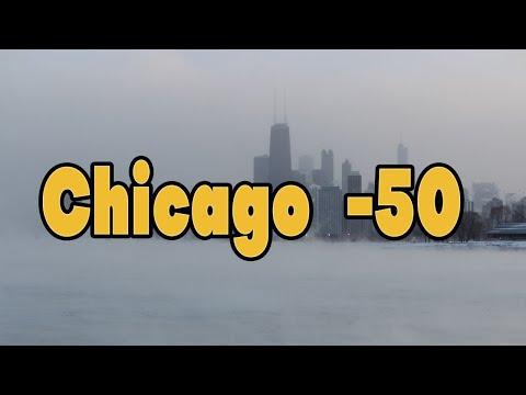 Chicago zima temperatura -50 hladan start auta