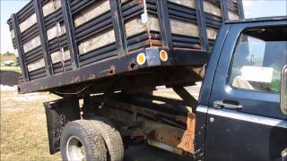 1988 Ford F350 dump flatbed truck for sale | sold at auction November 4, 2014