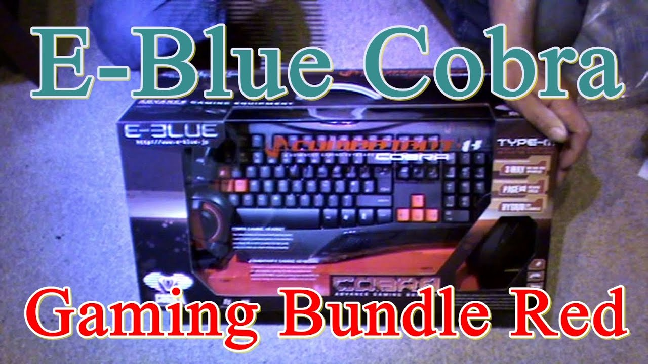 191fa3294a7 E-Blue Cobra Gaming Bundle Red - First Look - YouTube