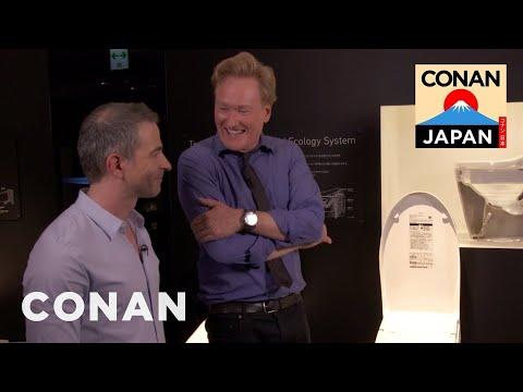 Conan & Jordan Visit The Toto Toilet Showroom