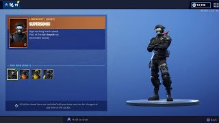 Peau SUPERSONIC!!! STEALTH BLACK Wrap! Fortnite Item Shop (17 avril) 8.40 Mise à jour