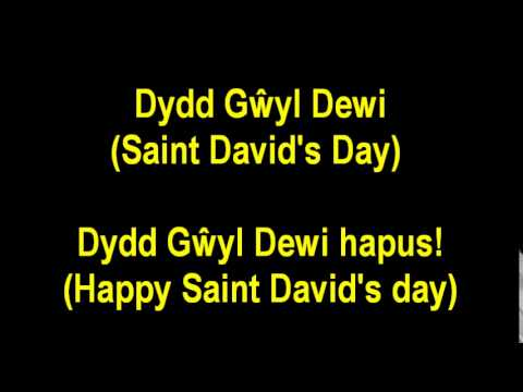 (Learning Welsh) Basic - How to say (happy) Saint David's Day