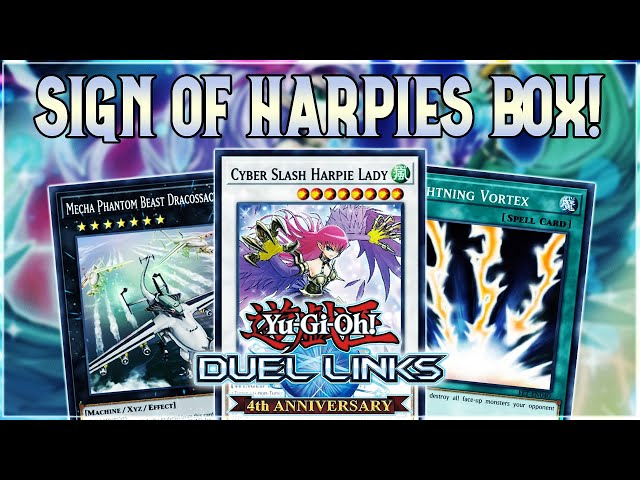 NEW BOX SIGN OF HARPIES REVIEW! DRACOSSACK! LIGHTNING VORTEX! F.A & MORE! | Yu-Gi-Oh! Duel Links