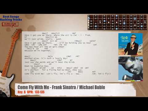 Come Fly With Me Frank Sinatra Michael Buble Guitar Backing