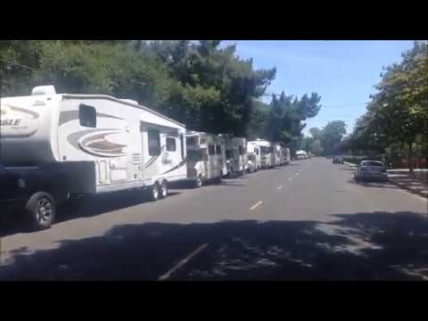 Mountain View RV campers get 6 tickets on Crisanto Ave; Silicon Valley; California