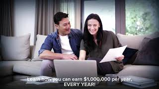 How to earn One Million dollars per year with a one time investment of just One hundred dollars.
