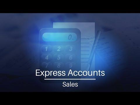 Express Accounts Accounting Software | Sales