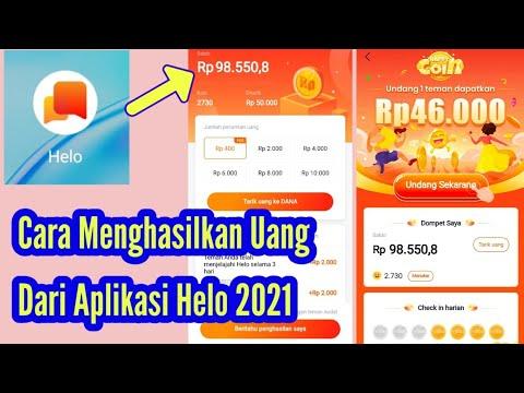 Cara Menghasilkan Uang Dari Aplikasi Helo 2021 - YouTube
