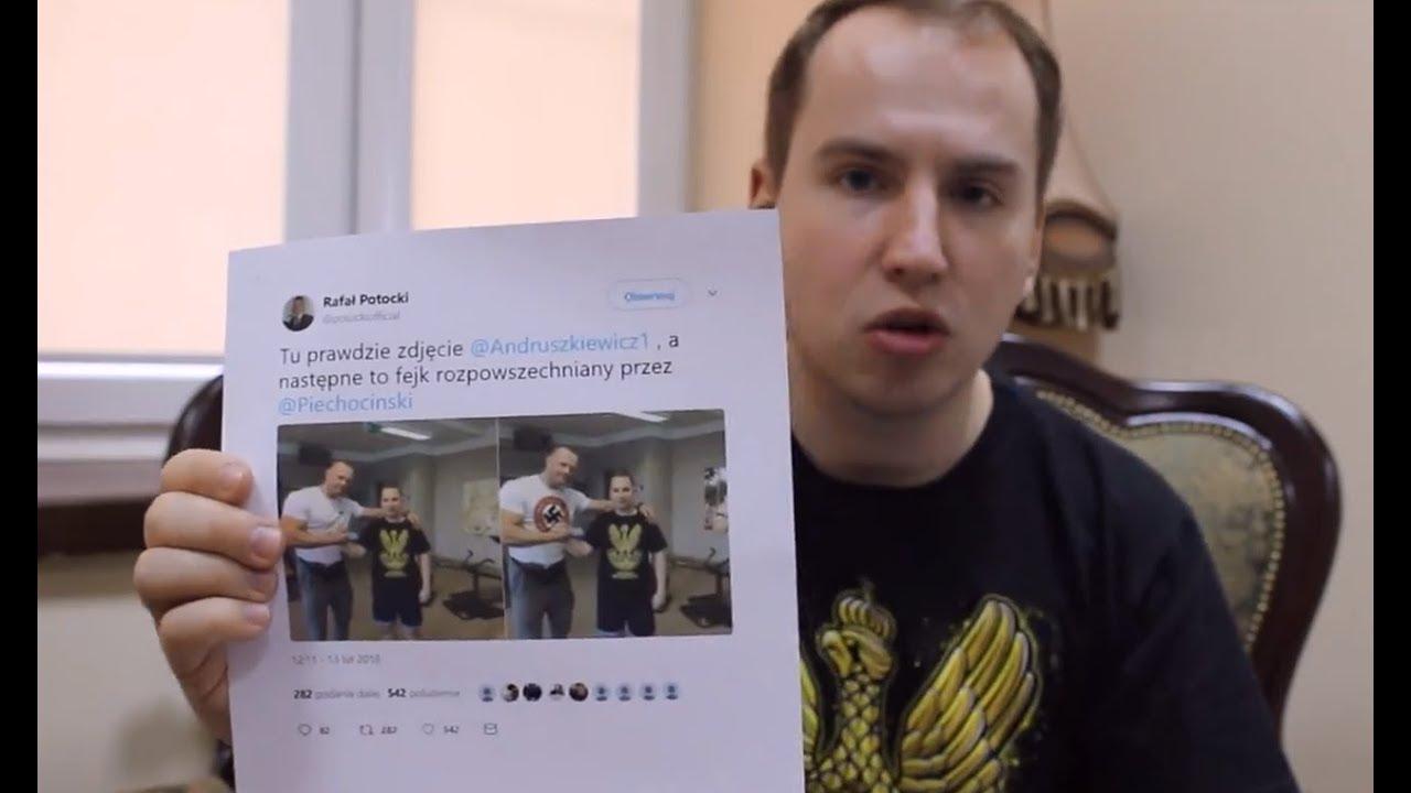 """Obrzydliwa manipulacja! Andruszkiewicz ofiarą paskudnego """"fakenewsa"""""""
