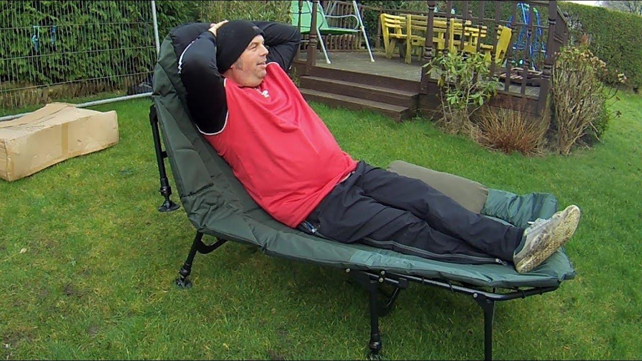 1685c7e504f Cyprinus Wide guy xl 8 Leg Carp Bed chair Review