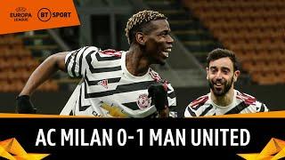 AC Milan vs Manchester United (0-1) | Paul Pogba Strike Puts Reds Through | Europa League Highlights