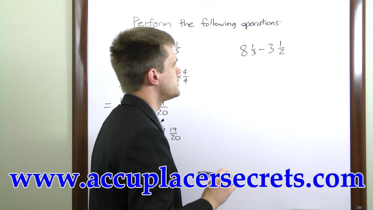ACCUPLACER Elementary Algebra; ACCUPLACER Exam Tutorials - YouTube