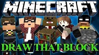 ARTISTIC CHAMPIONS Minecraft Draw That Block w/ SkyDoesMinecraft, BajanCanadian, and Friends