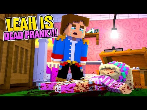 Minecraft FAKING MY OWN DEATH PRANK ON LITTLE DONNY !!! Donny & Leah Adventure
