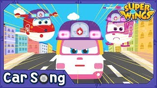 White Ambulance | English Song | SuperWings Songs for kids