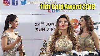 Hina Khan, Arshi Khan, Rakhi Sawant Arrive At 11th Gold Award 2018