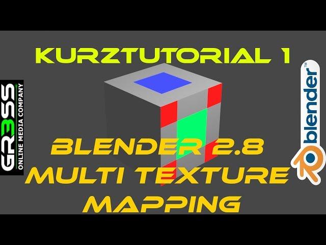 Blender 2.8 mehrere Materialien auf ein Objekt | Tutorial Deutsch