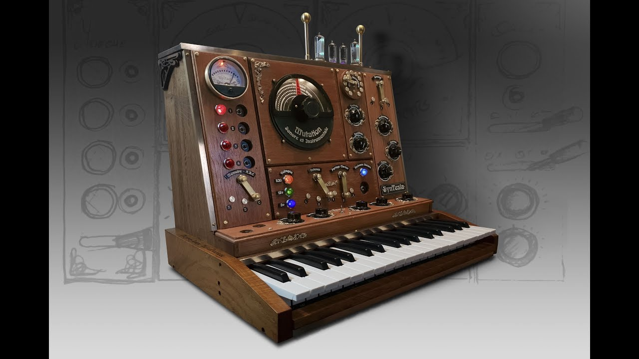 The SynTesla is a Steampunk Synth Based On a Waldorf String
