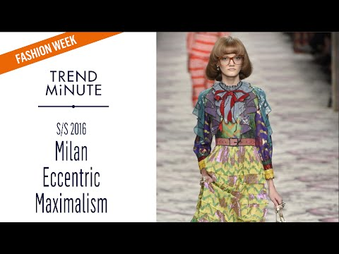 Trend Minute:  Milan S/S16 - Eccentric Maximalism Trend