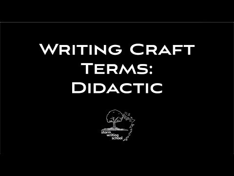 What's It Mean To Be Didactic?