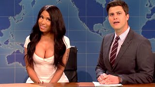 NICKI MINAJ Does KIM KARDASHIAN On SNL | What's Trending Now